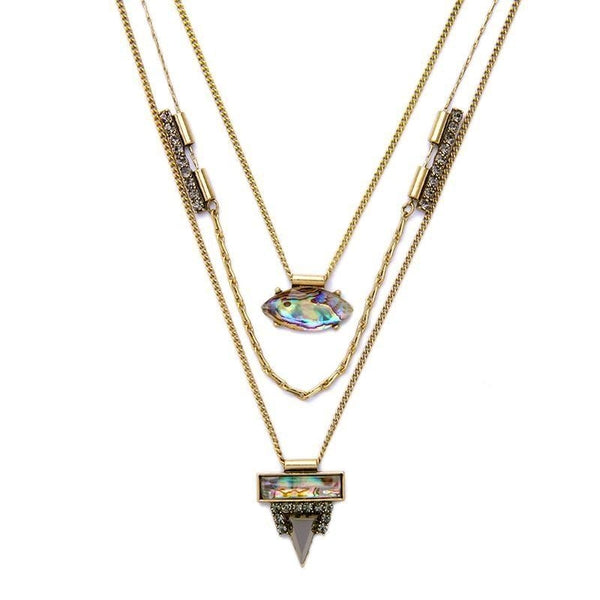 Tri-Layer Rainbow Crystal Necklace - The Gold Rich - Discovering unique and affordable jewelry and accessories before they become trends.