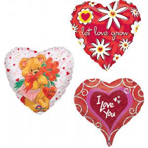 B123-12252-(50ct) 18 Inch Foil Assortment - Love You-Shop by Theme
