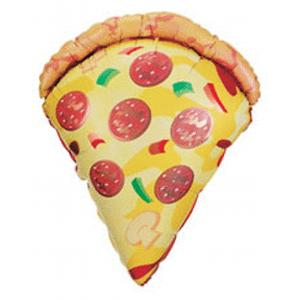 B123-15460-38 Inch Pizza Shape Foil Food Balloons-Shop by Theme