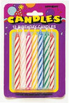Multi Spiral Candles (12ct) - Item Number B123-3393