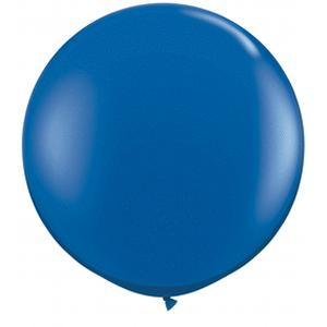 B123-52132-(2ct) 36 Inch Latex Sapphire Blue-Solid Color Balloons