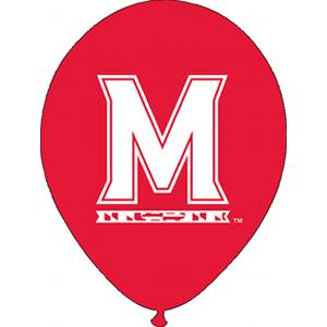B123-53051-(10ct) 11'' University of Maryland Latex Balloon-Occasions