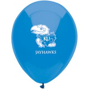 B123-53089-(10ct) 11'' University of Kansas Latex Balloon-Occasions
