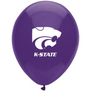 B123-53109-(10ct) 11'' Kansas State Latex Balloon-Occasions