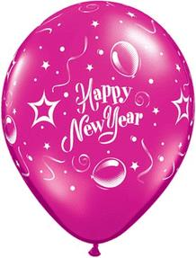 B123-58579-(50ct) 11'' New Year Party Assorted Latex Balloon-Holiday and Seasonal