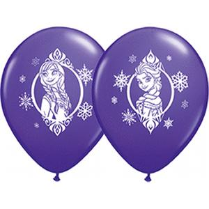 "B123-70433-(25ct) 11"" Frozen Latex Balloon-Licensed Characters"