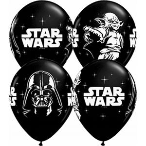 "B123-71562-(25ct) 11"" Star Wars Latex Balloon - Onyx Black-Occasions"