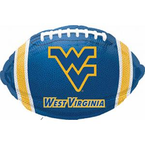 "B123-75017-(5ct) 18"" W Virginia University Football -Non-Pkg foil balloon-Occasions"
