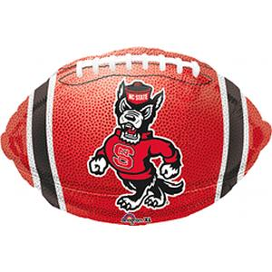 "B123-75040-(5ct) 18"" N Carolina State Football -Non-Pkg foil balloon-Occasions"