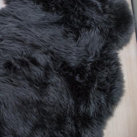 Long hair / shaggy baby sheepskin - Anthracite