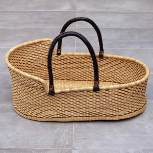 OWL STRIPE (iii) moses basket - for delivery by end June