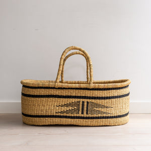VEGAN OSPREY [BLACK] - moses basket [shipping mid Sept]