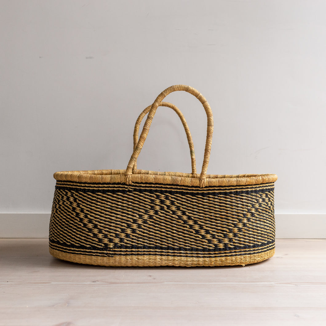 VEGAN ZEBRA - moses basket [shipping by mid May]