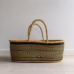 VEGAN ZEBRA (ii) - moses basket [shipping mid August]