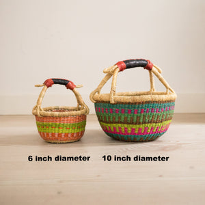 COLOURFUL Wee Bosie Basket - 10 inch diameter (10)