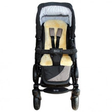 Sheepskin one-piece buggy liner - Cropped - Oaty