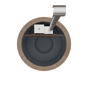 Thermowood & Black Granite with Wood Rim - 20 KW Internal Heater