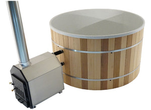 Red Cedar Wood & White Granite - 35 KW External Heater