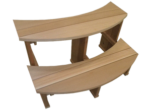 Red Cedar Wood Hot Tub Stairs - Large
