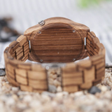 Our Stripes- Wood Watch - Exclusive Square