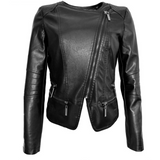 Soft Leather Motorcycle Diva Jacket - Exclusive Square
