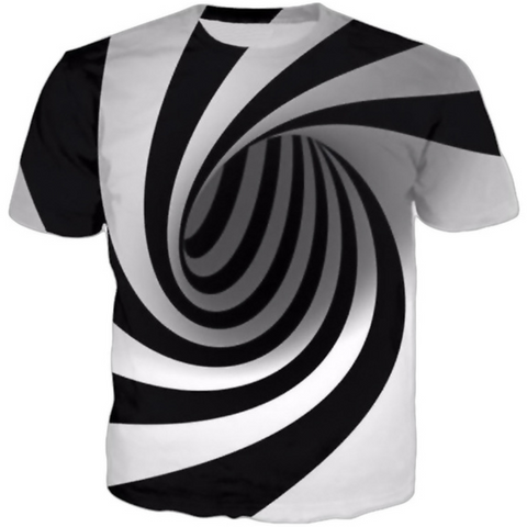 3D Hypnotic Vertigo Men T-Shirt - Exclusive Square