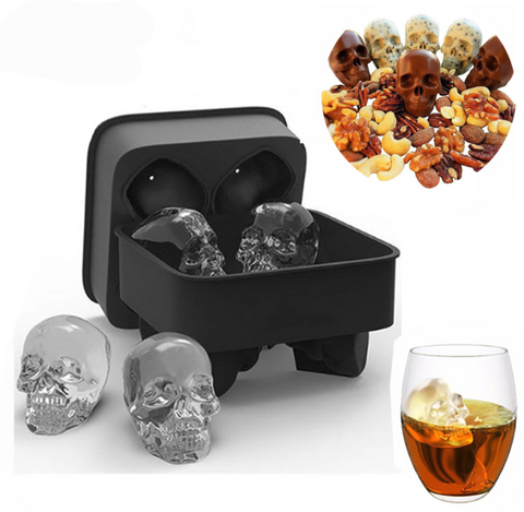 3D FancySkull™ Ice Cubes Silicone Tray Molds - Exclusive Square