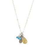 Charmed Necklace in Citrine Pineapple - Exclusive Square