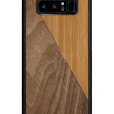 Slim Wooden Phone Case | Bamboo / Walnut Split - Exclusive Square