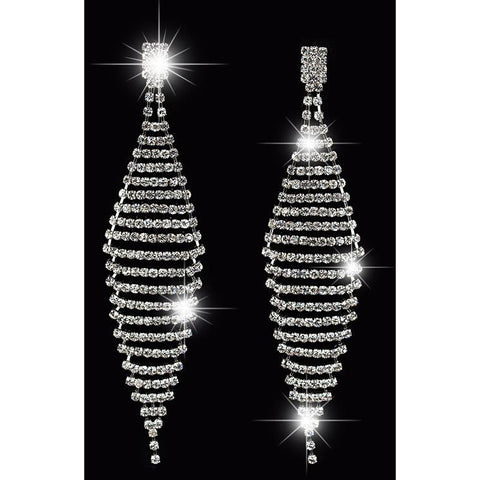 Elegant Luxury Crystal Drop Earrings - Exclusive Square