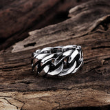 Rope Punk Ring for Men - Exclusive Square