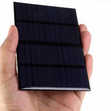 Universal Solar Panel Standard Epoxy Polycrystalline Silicon Battery Power Charge (12V / 1.5W) - Exclusive Square