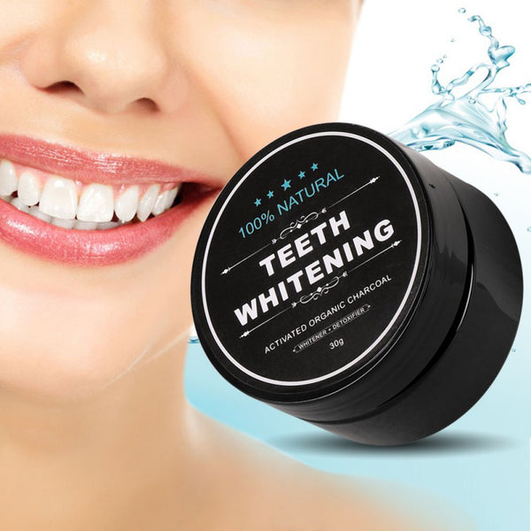 Activated Organic Charcoal Teeth Whitening Powder - Exclusive Square