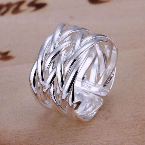 FREE ITEM: Fine Silver Ring for Women - Exclusive Square