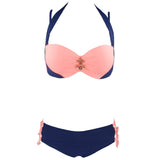 Deluxe Daisy Push Up Diamond Bikini - Exclusive Square