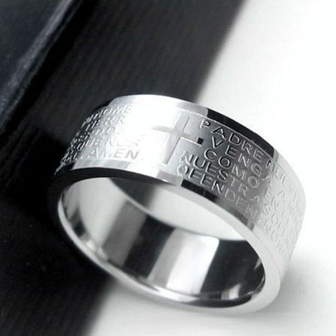 FREE ITEM: Christian Prayer Cross Ring (Unisex) - Exclusive Square