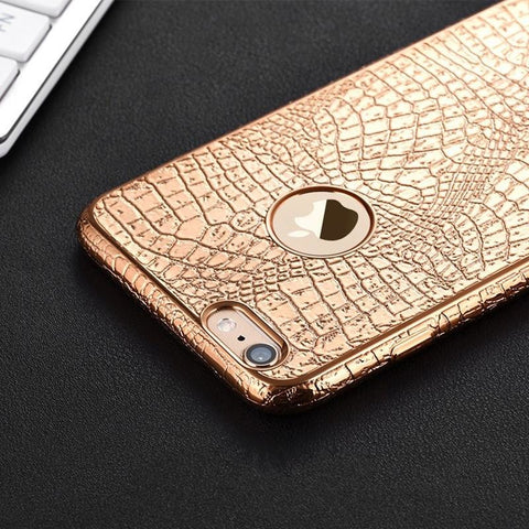 iPhone Case: Luxury 3D Crocodile-Snake Print (iPhone 6, 6s, 7, 8 Plus) - Exclusive Square