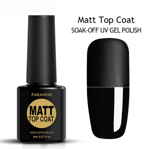 Matt Top Coat: Soak-Off UV Gel Polish - Exclusive Square