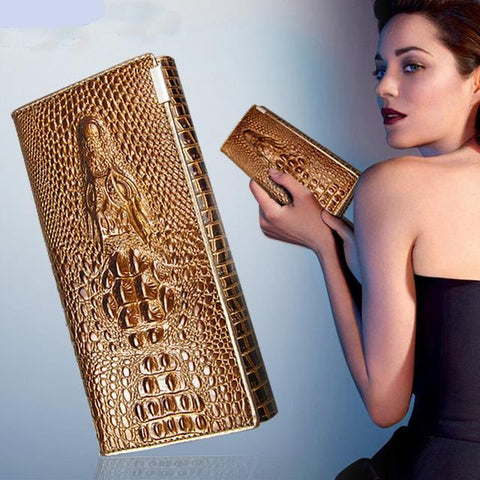 Lady Illusion Chic Leather Wallet - Exclusive Square