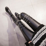 RebelliousDiva™ Fancy Leather Leggings - Exclusive Square