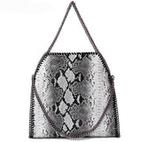 Lady Classy Serpentine Luxury Handbag - Exclusive Square