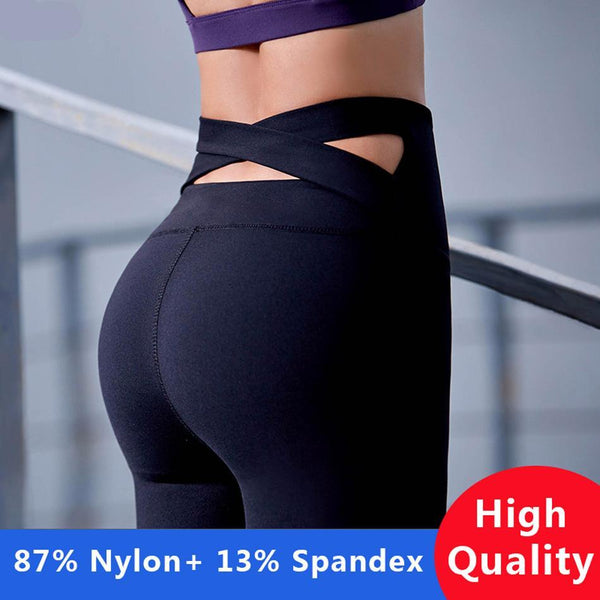 Exclusive Push Up Criss-Cross Yoga Leggings - Exclusive Square