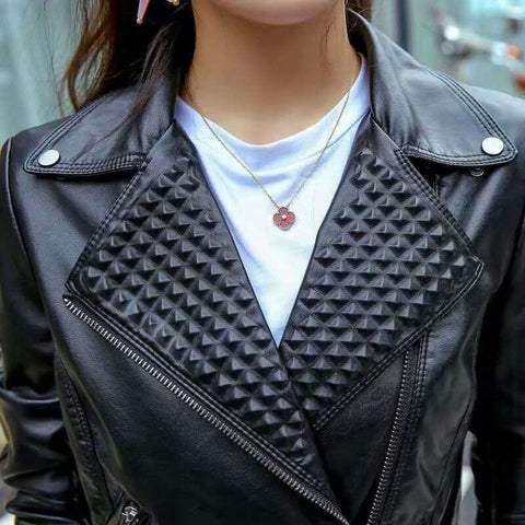 Classy Rebel Leather Jacket with studs - Exclusive Square