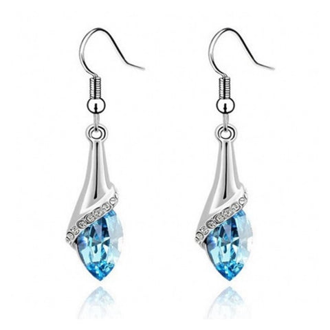 Hot Luxury Korean Crystal Long Earrings - Exclusive Square