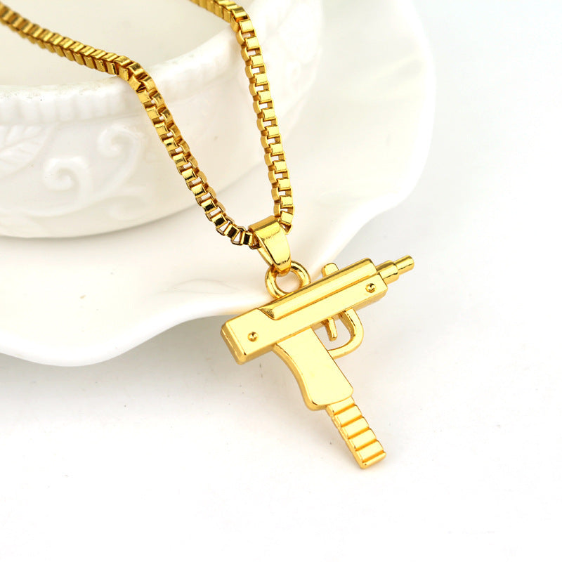 FREE Gold Plated Uzi Necklace!