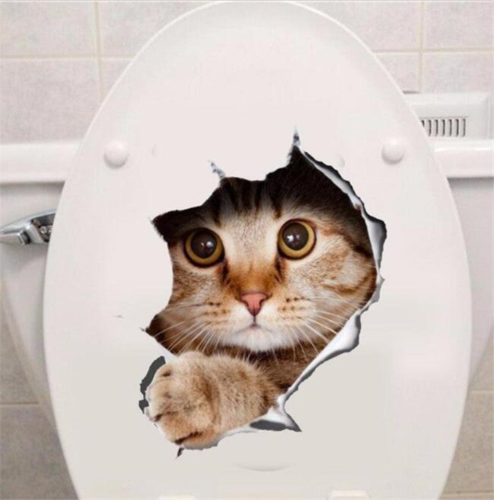 NEW Decoration Cat Bathroom Sticker! (FREE SHIPPING)