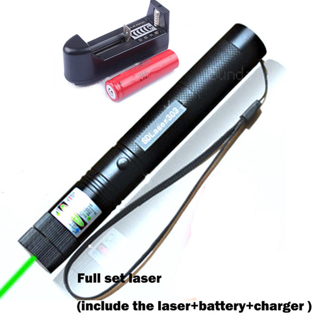 10000mw 303 GREEN LASER POINTER W/ CHARGER