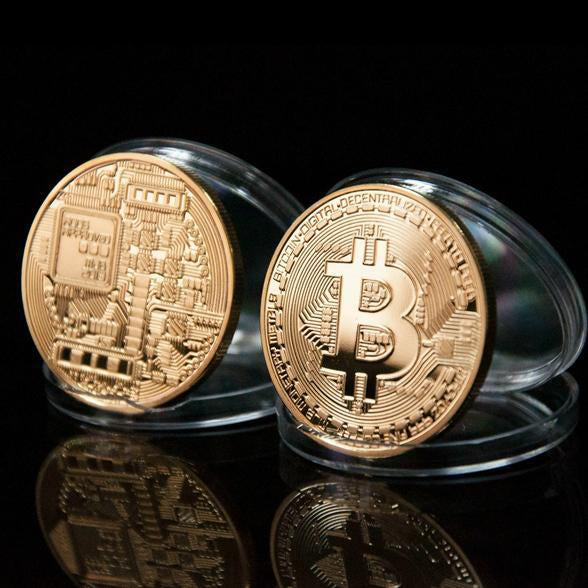 24K Gold Plated Physical Bitcoins