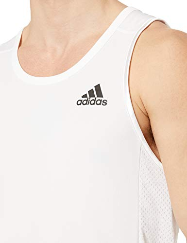 adidas Basketball Accelerate Tank, White, X-Large