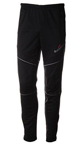4ucycling Unisex Windproof Athletic Pants for Outdoor and Multi Sports, Black, 2XL